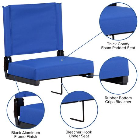 Grandstand Comfort Seats by Flash with Ultra-Padded Seat in Blue - image 8 of 8