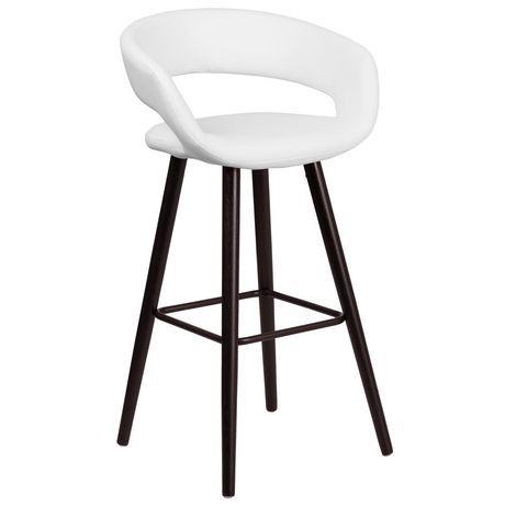 Brynn Series 29'' High Contemporary Cappuccino Wood Barstool in Black Vinyl - image 1 of 4