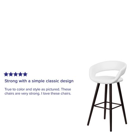 Brynn Series 29'' High Contemporary Cappuccino Wood Barstool in Black Vinyl - image 4 of 4