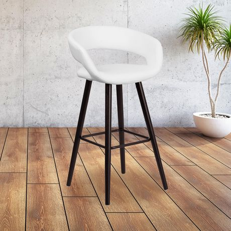 Brynn Series 29'' High Contemporary Cappuccino Wood Barstool in Black Vinyl - image 2 of 4