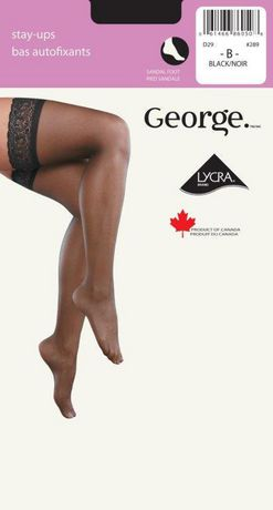 4f0e48364 George Ladies  Lace Top Sheer Leg Sandal Foot Stay-Ups - image 1 ...