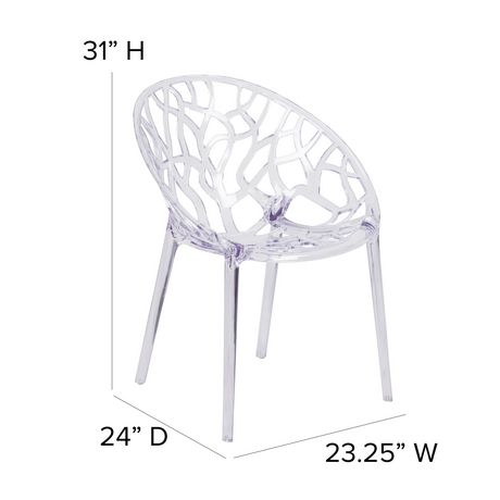 Specter Series Transparent Stacking Side Chair - image 4 of 4