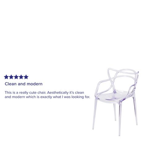 Nesting Series Transparent Stacking Side Chair - image 4 of 4