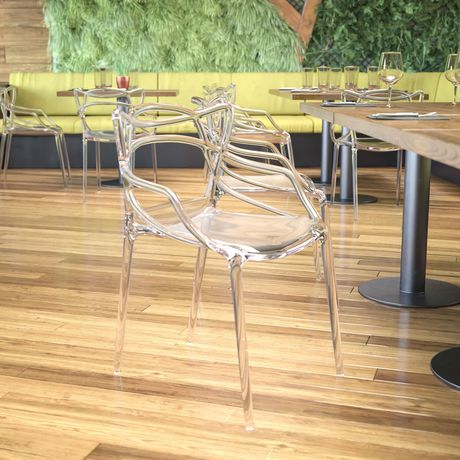Nesting Series Transparent Stacking Side Chair - image 2 of 4