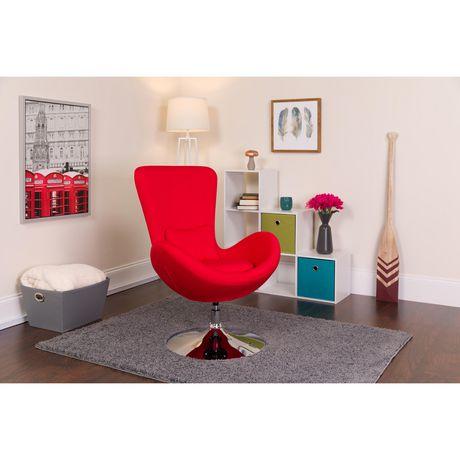 Chaise de réception latérale en tissu aqua de la série Egg - image 2 de 4
