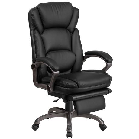 High Back Black Leather Executive, Ergonomic Office Chair Canada