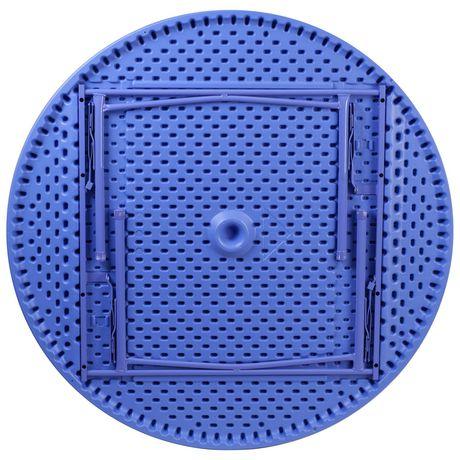 Table pliante ronde en plastique bleue de 48 pouces - image 3 de 3