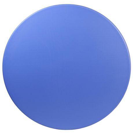 Table pliante ronde en plastique bleue de 48 pouces - image 2 de 3