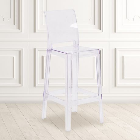 Ghost Barstool with Square Back in Transparent Crystal - image 2 of 4