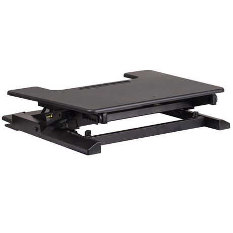 HERCULES Series 28.25''W Black Sit / Stand Height Adjustable Desk with Height Lock Feature and Keyboard Tray - image 2 of 4