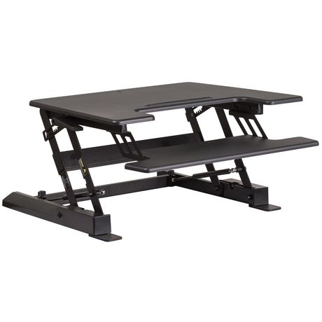 HERCULES Series 28.25''W Black Sit / Stand Height Adjustable Desk with Height Lock Feature and Keyboard Tray - image 1 of 4