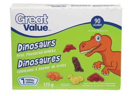Great Value Dinosaur Fruit Snacks - image 1 of 2