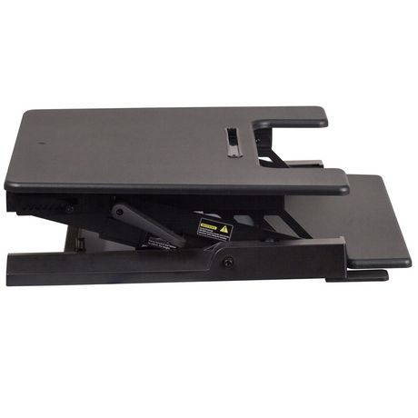 HERCULES Series 28.25''W Black Sit / Stand Height Adjustable Desk with Height Lock Feature and Keyboard Tray - image 3 of 4