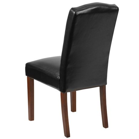 HERCULES Grove Park Series Black Leather Tufted Parsons Chair - image 3 of 6