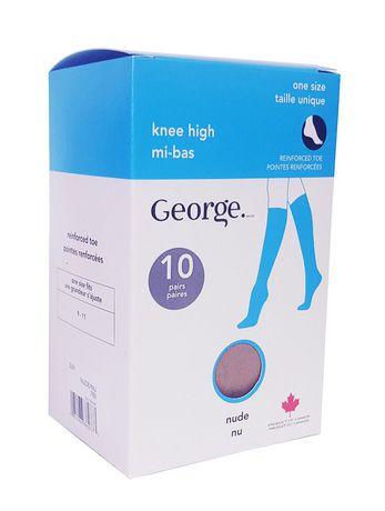 81f780b79 George Ladies  Knee Highs - Pack of 10 - image 1 ...