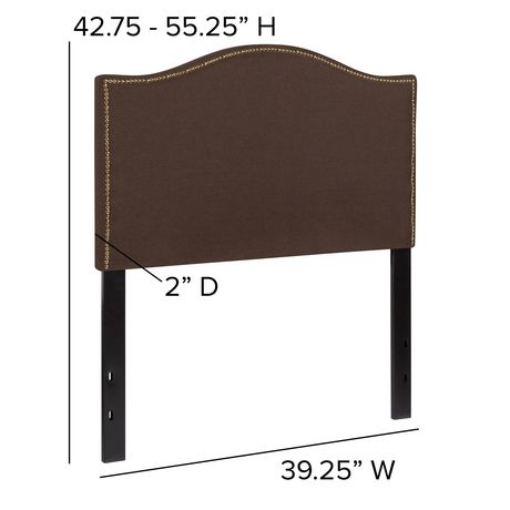 t te de lit lexington une place rembourr e avec. Black Bedroom Furniture Sets. Home Design Ideas