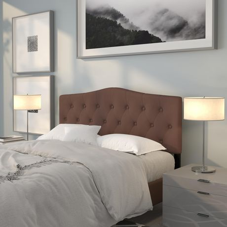 Cambridge Tufted Upholstered Queen Size Headboard in Camel Fabric - image 2 of 4