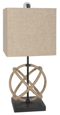 Hometrends rope table lamp walmart canada hometrends rope table lamp mozeypictures Gallery