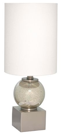 Hometrends metal and glass ball table lamp walmart canada hometrends metal and glass ball table lamp aloadofball Gallery