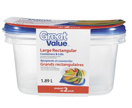 Great Value Large Rectangular Containers | Walmart Canada
