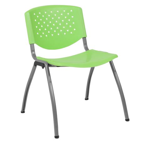 HERCULES Series 880 lb. Capacity Green Plastic Stack Chair with Titanium Frame - image 1 of 4