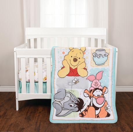 Winnie The Pooh 3 Piece Crib Bedding Set Walmart Canada