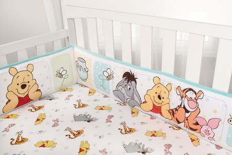 Winnie the Pooh 4 Piece Crib Bumper Set | Walmart Canada