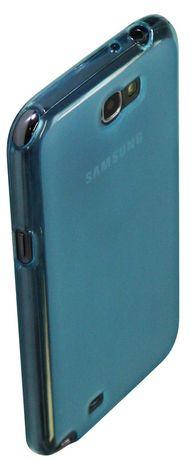 Étui transparent Exian pour Samsung Galaxy Note 2 - bleu