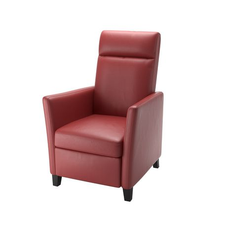 CorLiving Elise Red Bonded Leather Recliner - image 2 of 5
