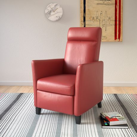 CorLiving Elise Red Bonded Leather Recliner - image 3 of 5