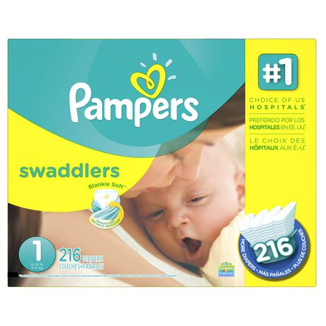 WALMART publish Pampers Swaddlers Diapers, Size 3, Diapers Pampers Swaddlers Diapers: Pampers Blankie Soft comfort and protection; Pampers Swaddlers diapers are the #1 choice of hospitals (based on sales data) Swaddlers wetness indicator tells you when your baby might need a change.