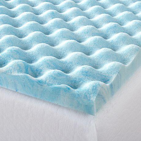"Zinus 1.5"" Swirl Gel Memory Foam Air Flow Mattress Topper - image 4 of 5"