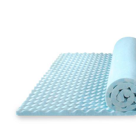 "Zinus 1.5"" Swirl Gel Memory Foam Air Flow Mattress Topper - image 3 of 5"