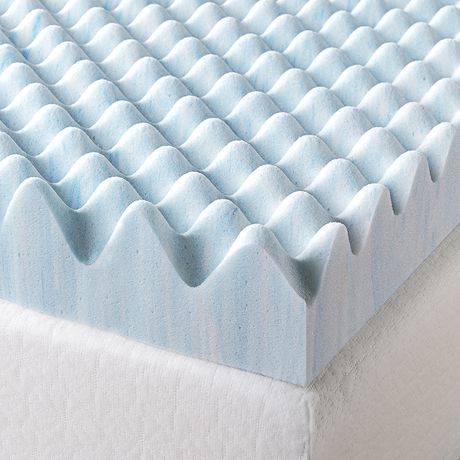 Zinus 3 Quot Swirl Gel Memory Foam Air Flow Mattress Topper