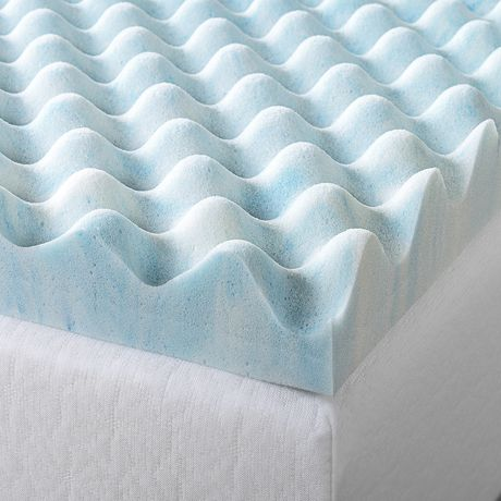 Zinus 2 Quot Swirl Gel Memory Foam Air Flow Mattress Topper