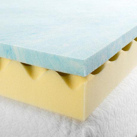 Zinus 4 Quot Swirl Gel Memory Foam Air Flow Mattress Topper