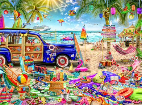 Buffalo Games Aimee Stewart Collection Beach Vacation 1000