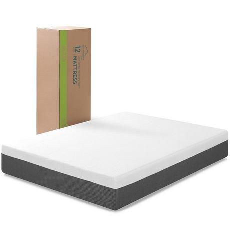 Zinus 12 Inch Eco Sense Memory Foam Mattress Walmart Canada
