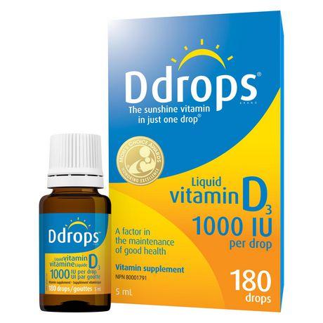 Ddrops® Liquid Vitamin D3 Vitamin Supplement, 1000 IU - image 1 of 8