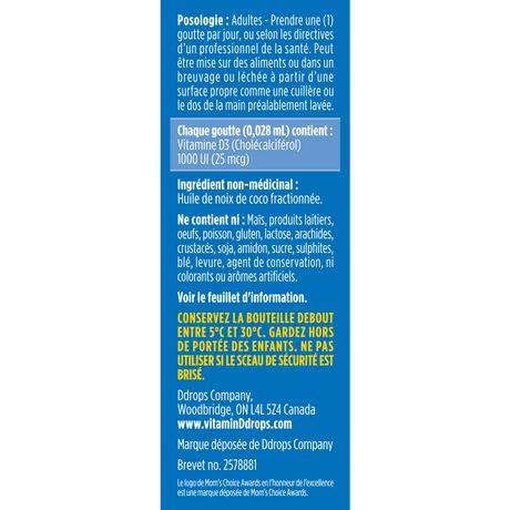 Ddrops® Liquid Vitamin D3 Vitamin Supplement, 1000 IU - image 8 of 8