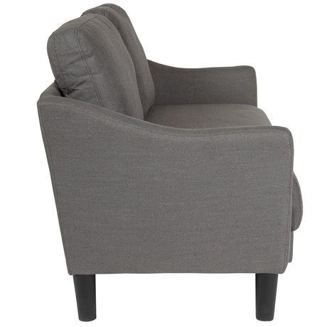 Asti Upholstered Loveseat in Dark Gray Fabric - image 4 of 4