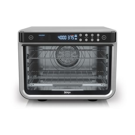 Ninja Dt201c, Foodi 10-In-1 Xl Pro Air Fry Oven, Large Countertop Convection Oven, Digital Toaster Oven, Stainless, 1800 Stainless Steel
