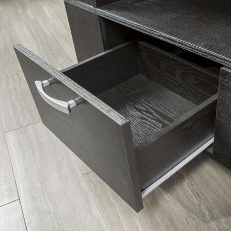 "Manor Park Wood TV Stand for TVs up to 48"" - Black - image 2 of 7"