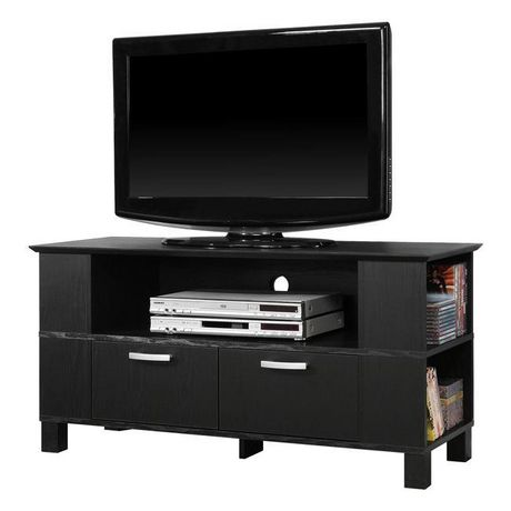 "Manor Park Wood TV Stand for TVs up to 48"" - Black - image 4 of 7"