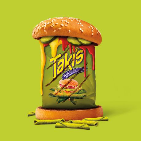 TAKIS Angry Burger Tortilla Chip Snacks, Fully-loaded Burger Flavour - image 5 of 7