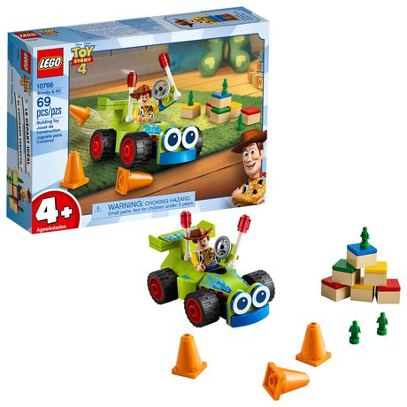 LEGO Disney Pixar's Toy Story 4 Woody & RC 10766 Building Kit (69 Piece) - image 1 of 5