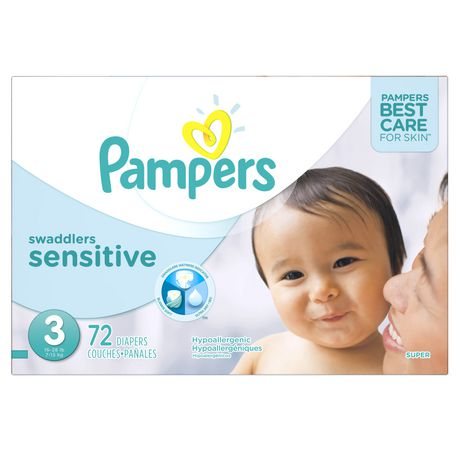 Pampers Swaddlers Sensitive Couches Format Super Walmart Canada