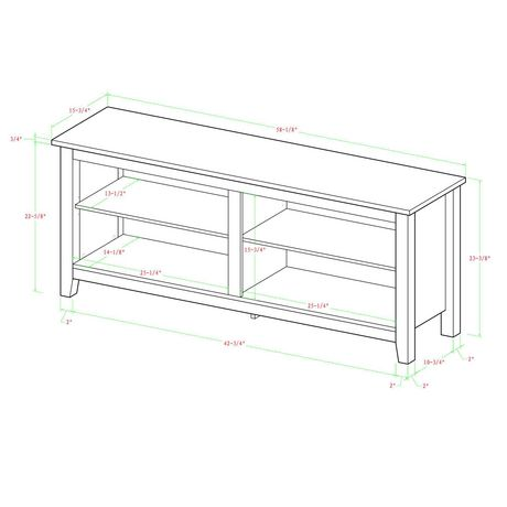 "Manor Park Minimal Farmhouse TV Stand for TV's up to 64""- Multiple Finishes - image 5 of 6"
