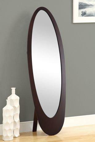 Miroir ovale monarch specialties pleine longueur walmart for Miroir longueur
