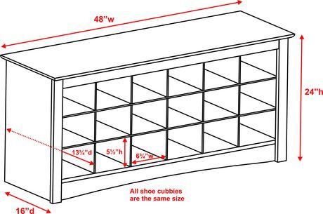 Shoe Storage Cubbie Bench - image 3 of 4